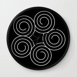 Invert spirals Wall Clock