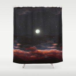 Dawn's moon Shower Curtain