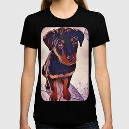 Rottweiler Puppy Born To Be Wild T-shirt