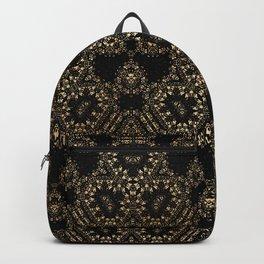 Elegant Black Gold Pattern Design Backpack