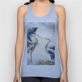 Great Blue Heron Couple Unisex Tank Top