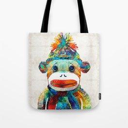 Sock Monkey Art - Your New Best Friend - By Sharon Cummings Tote Bag