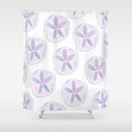 Mermaid Currency - Purple Sand Dollar Shower Curtain