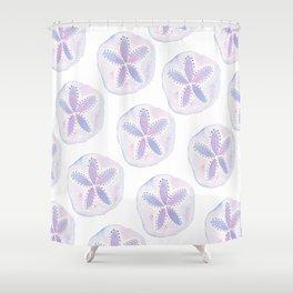 Mermaid Currency - Purple Sand Dollar Shower Curtain