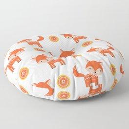 Orange Fox Floor Pillow
