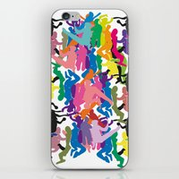 it crowd iPhone & iPod Skins featuring Crowd by Emmanuelle Ly