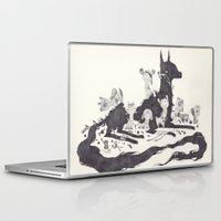 et Laptop & iPad Skins featuring Le Loup et les Sept Chevreaux by yohan sacre