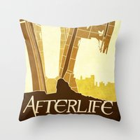 resident evil Throw Pillows featuring Resident Evil Afterlife by JackEmmett