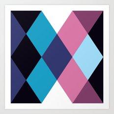 Diamond Pattern 3 Art Print