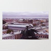 cityscape Area & Throw Rugs featuring cityscape by Gayana Manukova