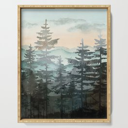 Pine Trees Serving Tray