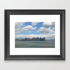 View from Lady Liberty Framed Art Print