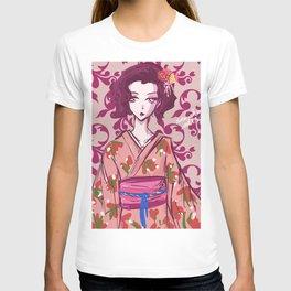 Japanese Geisha Digital Art Style Portrait T-shirt