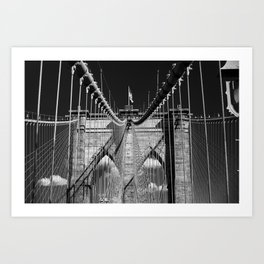 Brooklyn Bridge Impression Art Print