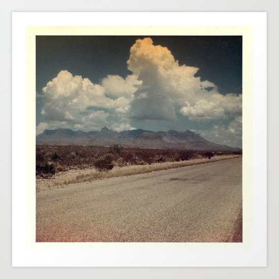 Out on the Road Art Print