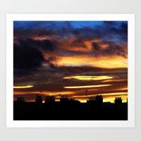 Everlasting Sunset Art Print