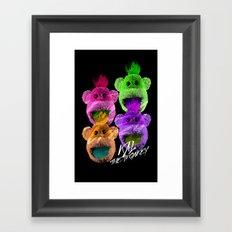 Kal the Monkey - Kal Warhol Framed Art Print