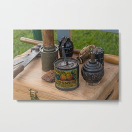 WW1 Grenades Metal Print
