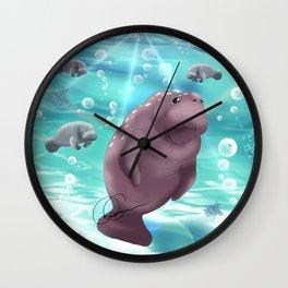 Manatees Wall Clock