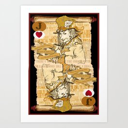 'Mad Hatter' (Alice in Steampunk Series) Art Print