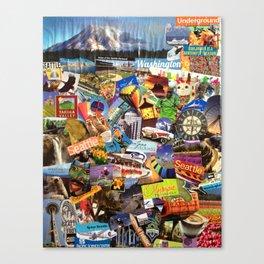 State of Washington Collage Canvas Print