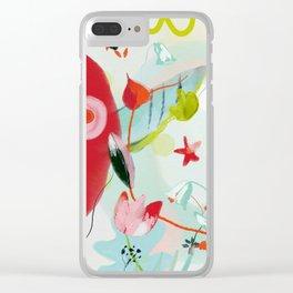 my summer garden Clear iPhone Case