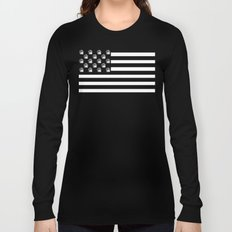 US Minifigure Flag - Horizontal Long Sleeve T-shirt