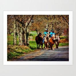 Horses Going Home Art Print