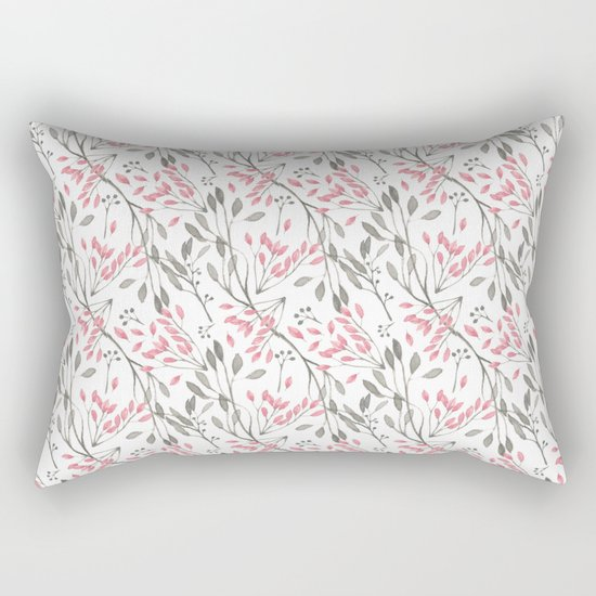 Delicate Floral Pattern 04 Rectangular Pillow