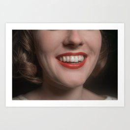 Hannah's Teeth Art Print
