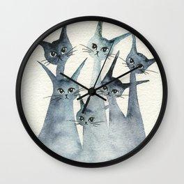 Ashland Whimsical Cats Wall Clock