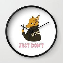 Bad Booboo Wall Clock