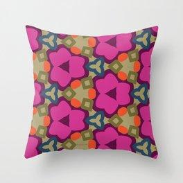 Flower-Caleidoscope Throw Pillow