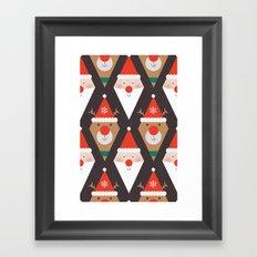 Day 03/25 Advent - Santa & Rudolph Framed Art Print
