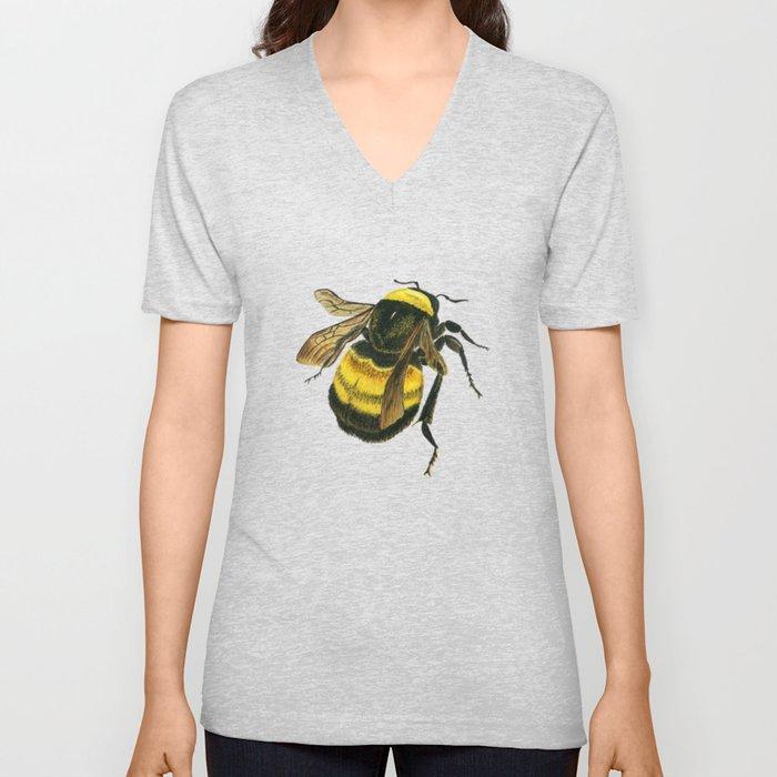Vintage Scientific Bee Unisex V-Ausschnitt