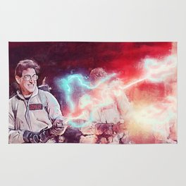 Egon Battling Gozer With The Ghostbusters Rug