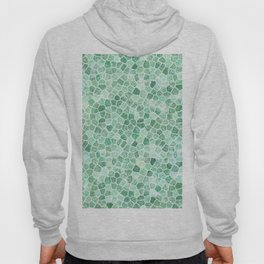 Muddled Puddles Pale Aqua Ocean Patchwork Hoody
