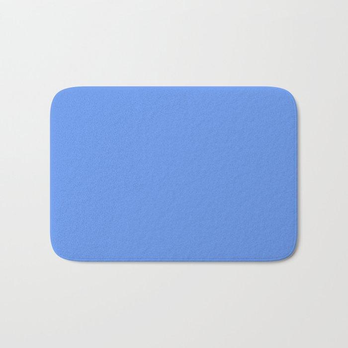 Cheapest Solid Pale Cornflower Blue Color Bath Mat By