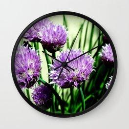 Pretty Chives Wall Clock