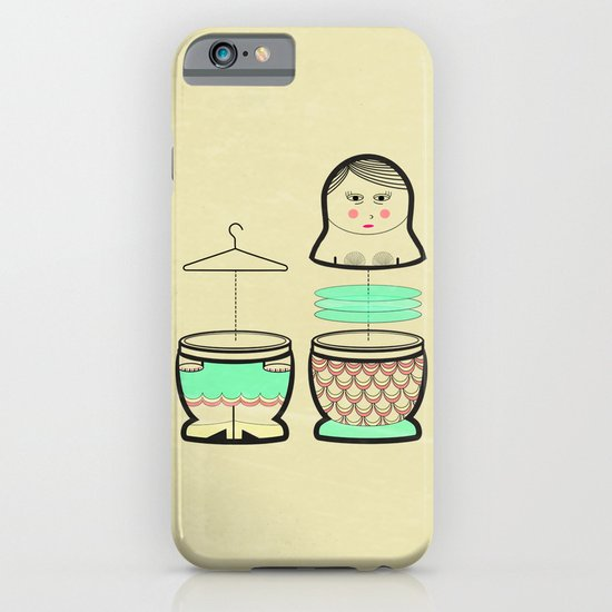The mermaid who was tired of her tail ... iPhone & iPod Case