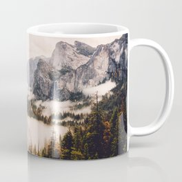 Amazing Yosemite California Forest Waterfall Canyon Coffee Mug