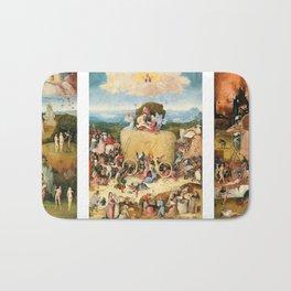 The Haywain Triptych by Bosch 1519 Bath Mat