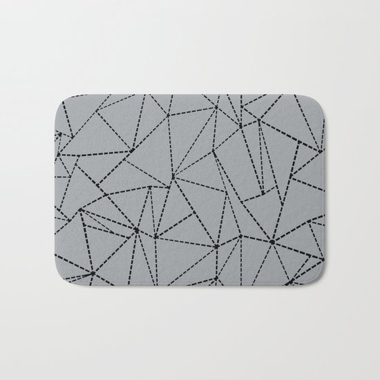 Ab Dotted Lines B on Grey Bath Mat