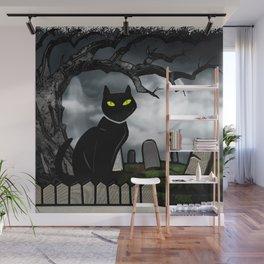 Hallows Halloween Horror Folk Art Wall Mural