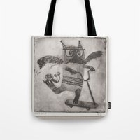 sport Tote Bags featuring Sport cat by KRADA ZHAN ART