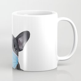 French Bulldog with Mouth Nose Mask - Frenchie Coffee Mug