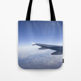 Heavenly Blue Skies Flying Tote Bag
