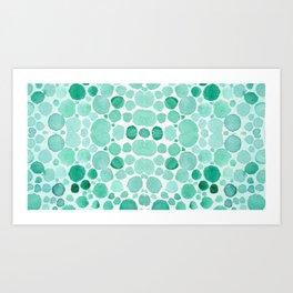 green bubbels Art Print