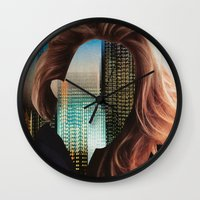 sin city Wall Clocks featuring Sin City by Imogen Art