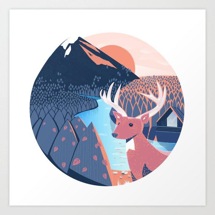 Cabin Folk passion Art Print